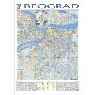 Beograd Zidna Karta Na Baneru