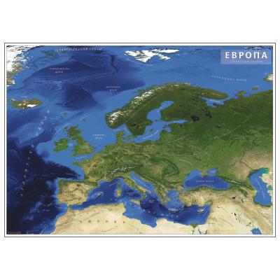 karta evrope satelit EVROPA   SATELITSKA   Zidna karta na baneru karta evrope satelit
