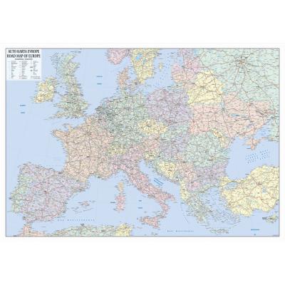Evropa Auto Zidna Karta Na Baneru