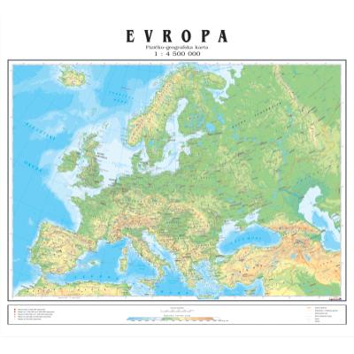 velika karta evrope EVROPA   BIG   FIZ GEO.   Zidna karta na baneru velika karta evrope