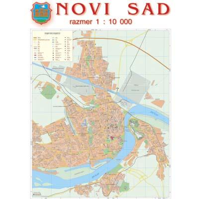 Novi Sad Zidna Karta Na Baneru