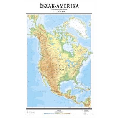 Severna Amerika Mađarski Jezik Fiz Geo Zidna Karta