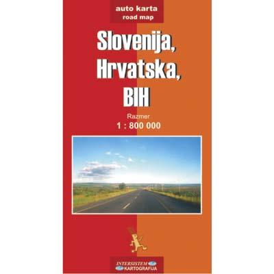 Auto Mapa Bih Hrvatska Bih Auto Karta