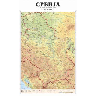 Srbija Big Fiz Geo Zidna Karta