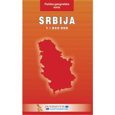 geografska mapa srbije. mapa srbije geografski i