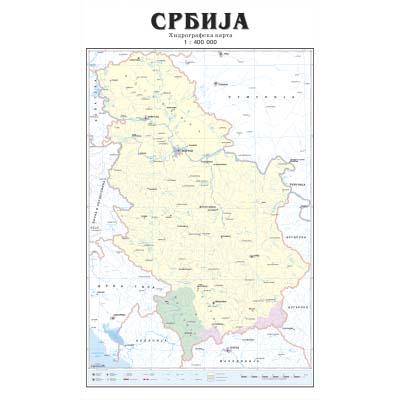 hidrografska karta srbije SRBIJA HIDROGRAFSKA   Zidna karta hidrografska karta srbije
